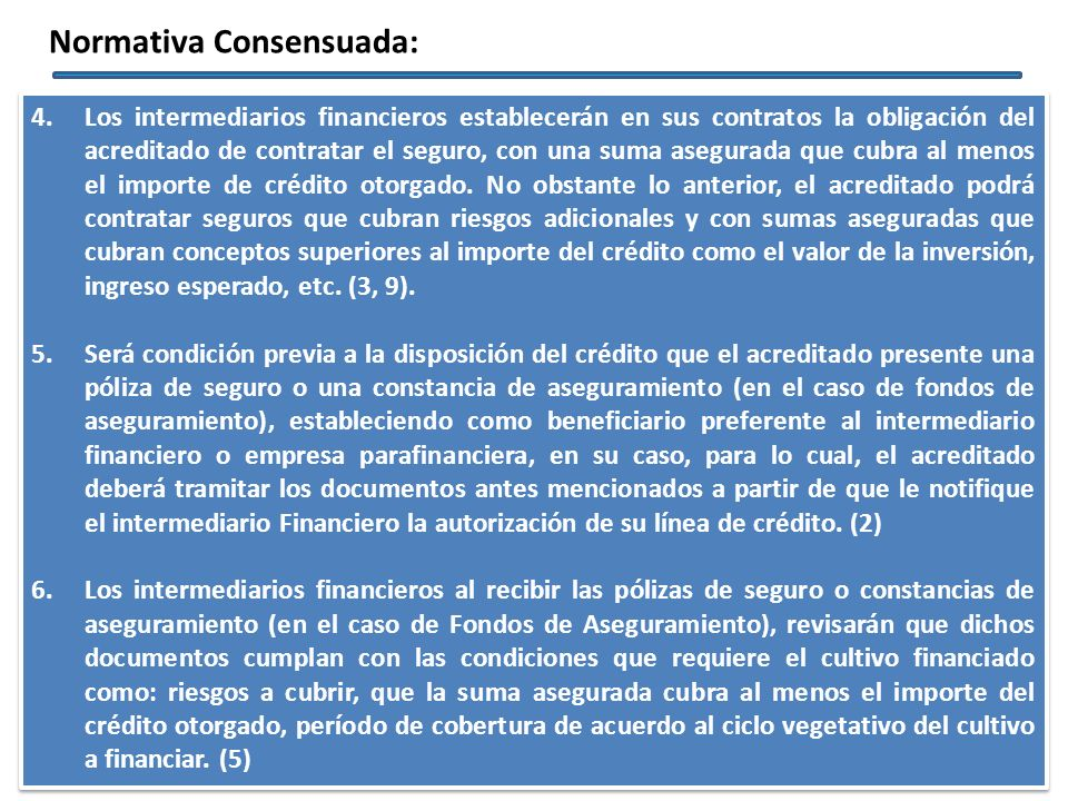 Normativa Consensuada: