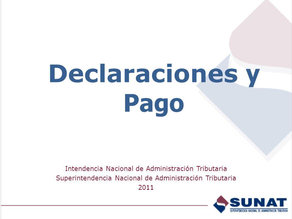 Declaraciones y Pago Intendencia Nacional de Administración Tributaria