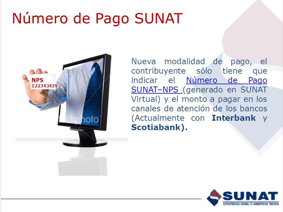 Número de Pago SUNAT
