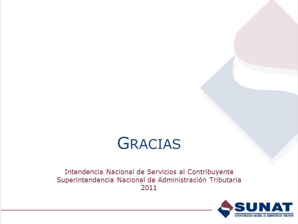 Gracias Intendencia Nacional de Servicios al Contribuyente