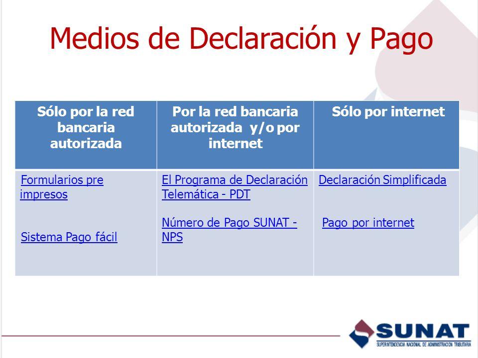 Medios de Declaración y Pago