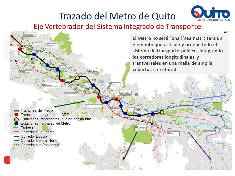 Trazado del Metro de Quito