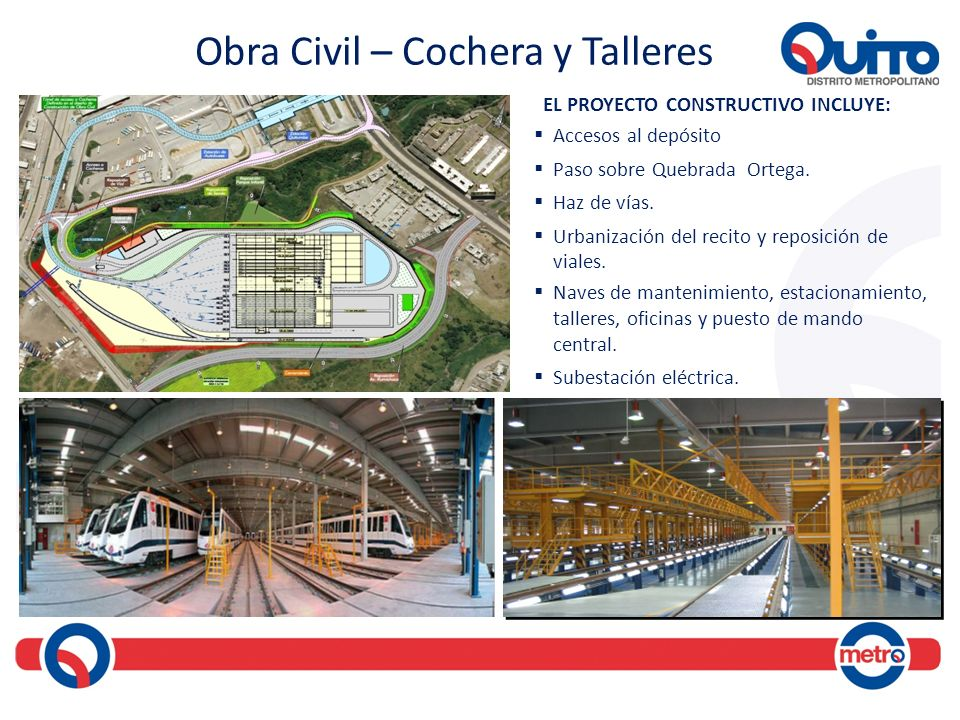 Obra Civil – Cochera y Talleres