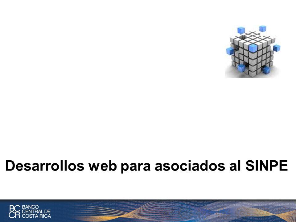 Desarrollos web para asociados al SINPE