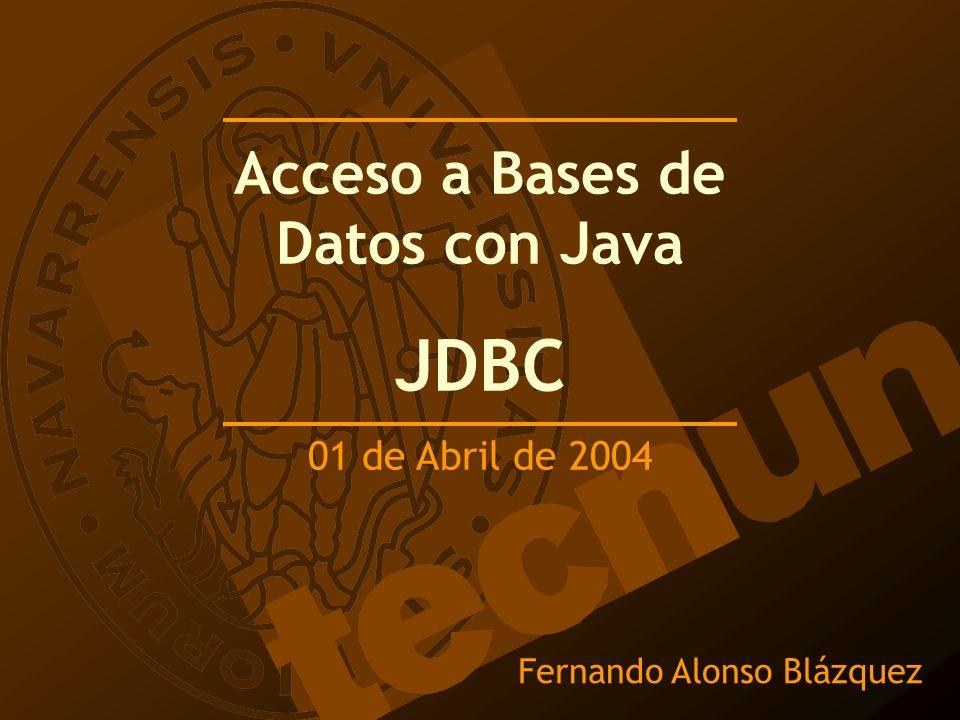 Acceso a Bases de Datos con Java