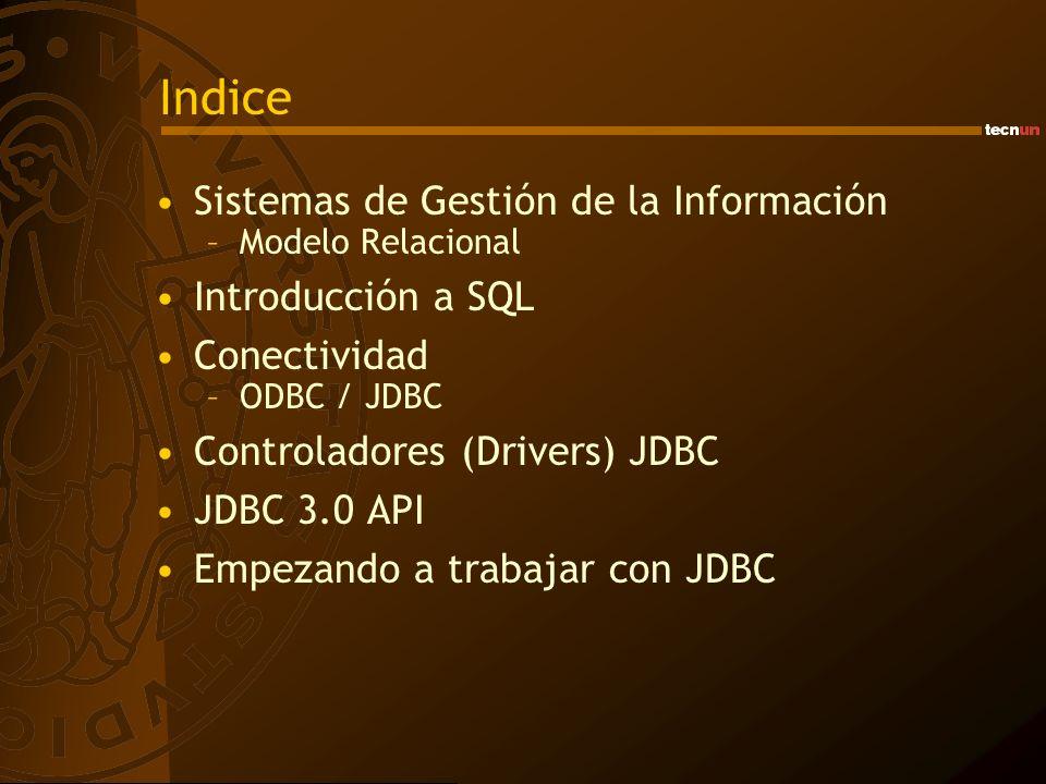 Indice Sistemas de Gestión de la Información Introducción a SQL