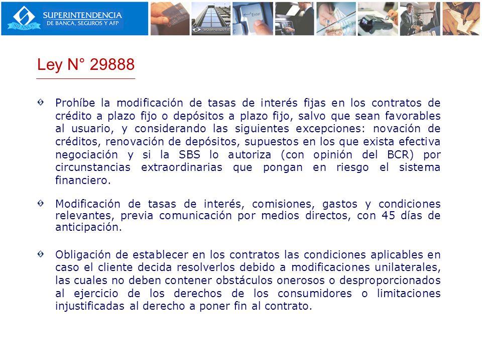 Ley N° 29888