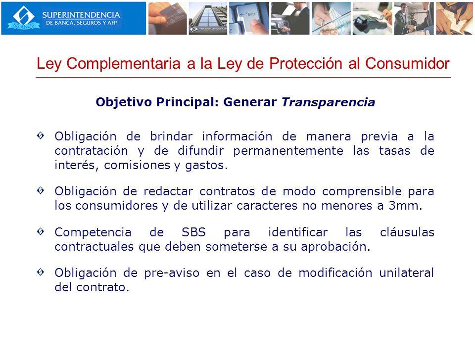 Objetivo Principal: Generar Transparencia