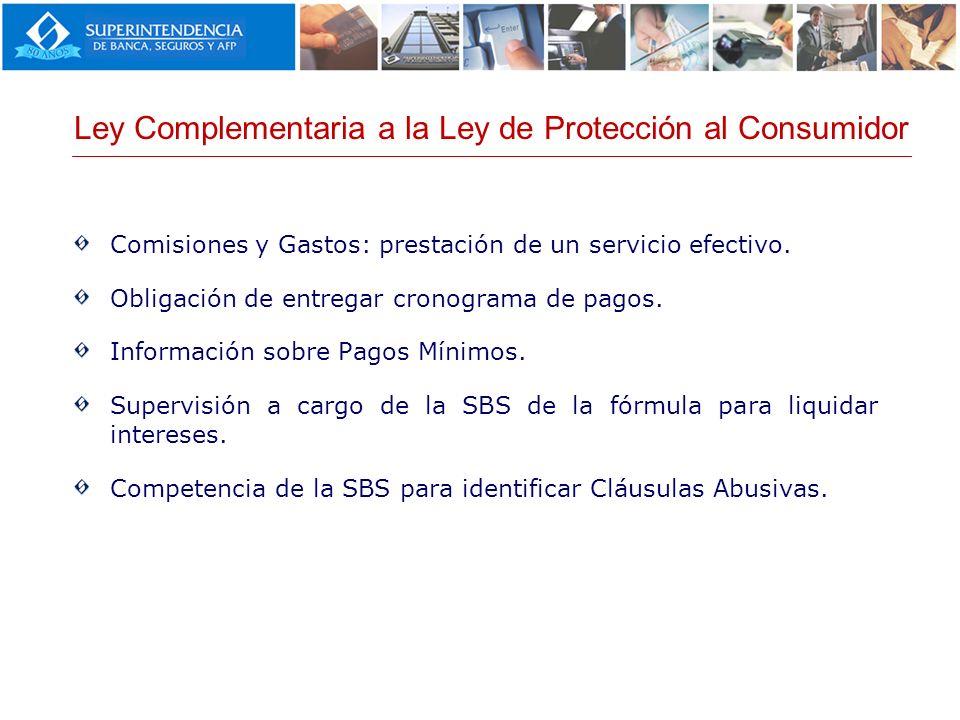 Ley Complementaria a la Ley de Protección al Consumidor