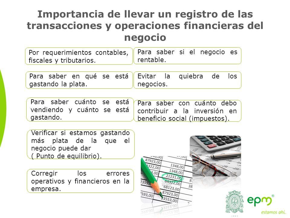 Importancia de llevar un registro de las transacciones y operaciones financieras del negocio