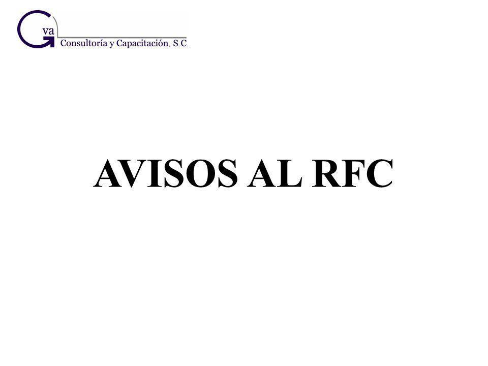 AVISOS AL RFC 10