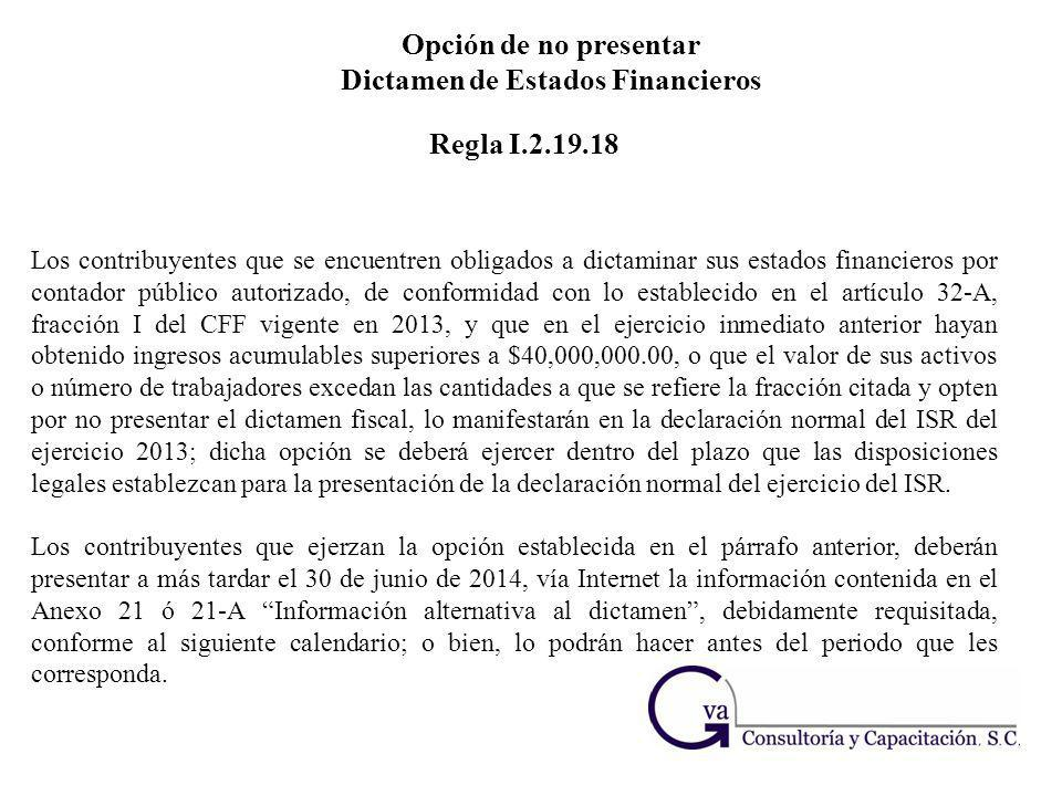 Dictamen de Estados Financieros