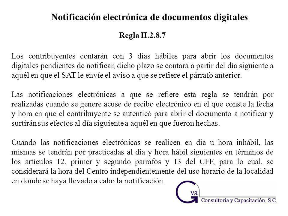 Notificación electrónica de documentos digitales