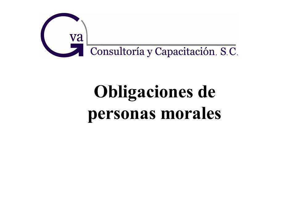 Obligaciones de personas morales