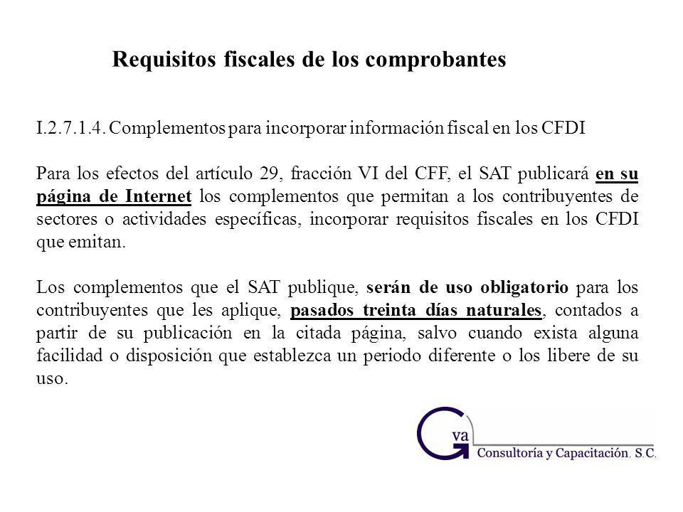 Requisitos fiscales de los comprobantes