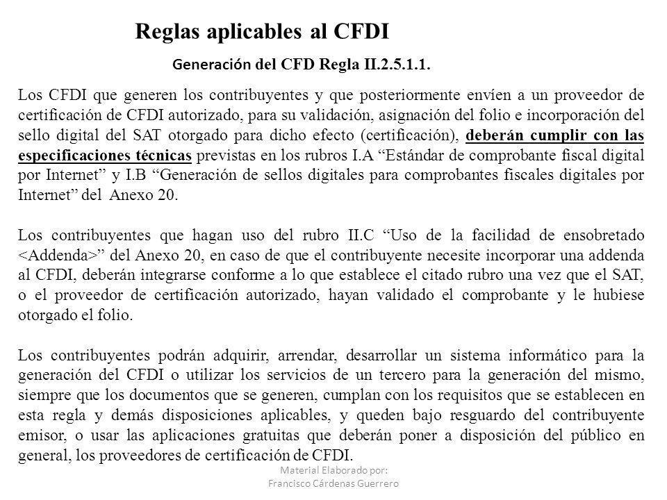 Generación del CFD Regla II.2.5.1.1.