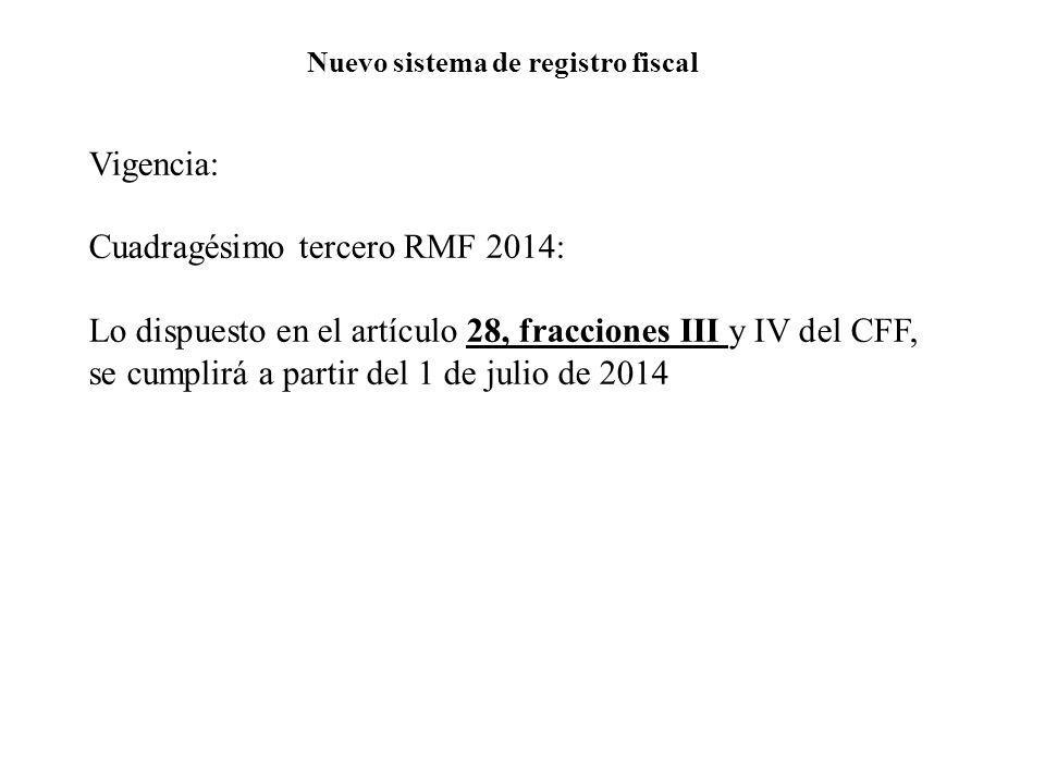Nuevo sistema de registro fiscal