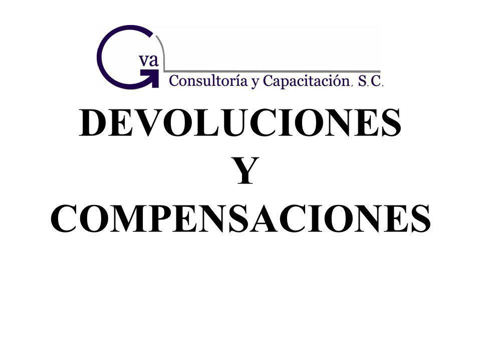 DEVOLUCIONES Y COMPENSACIONES