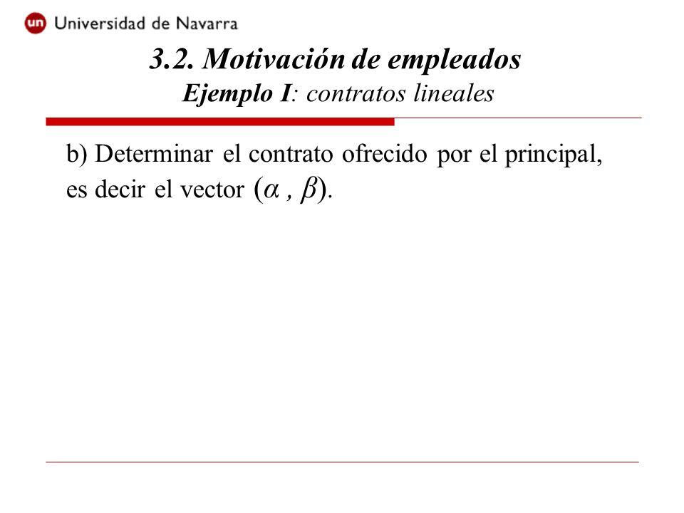 3.2. Motivación de empleados Ejemplo I: contratos lineales