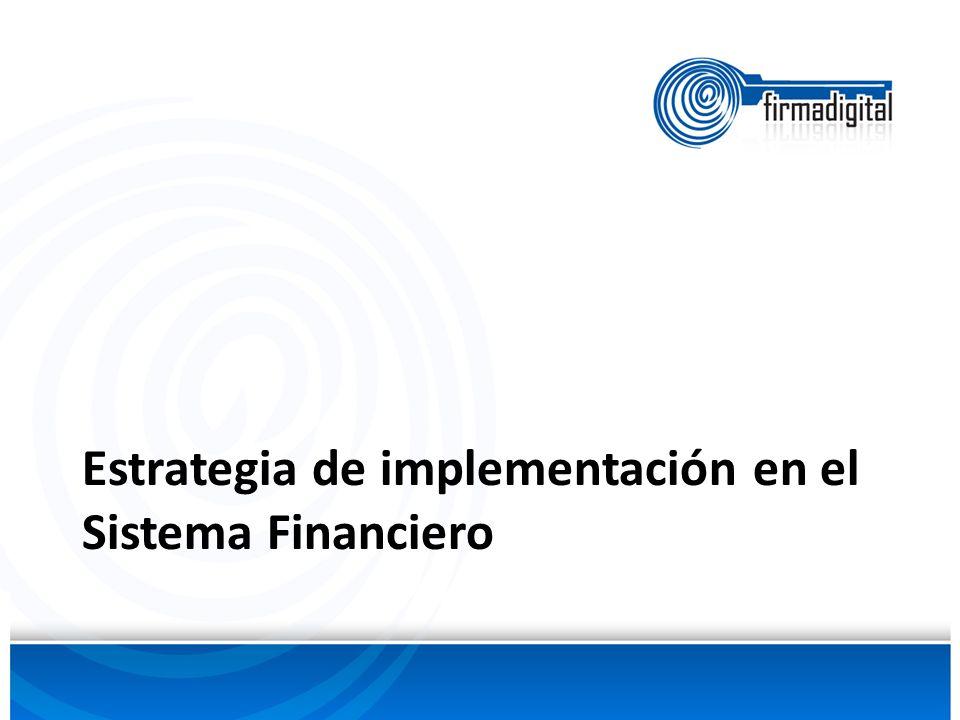 Estrategia de implementación en el Sistema Financiero