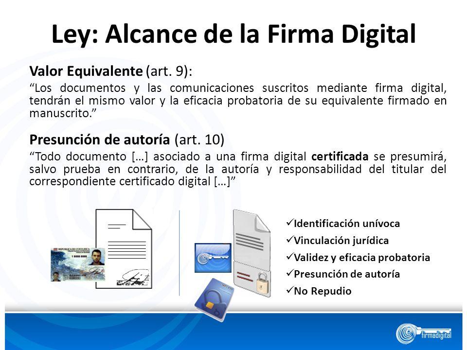 Ley: Alcance de la Firma Digital