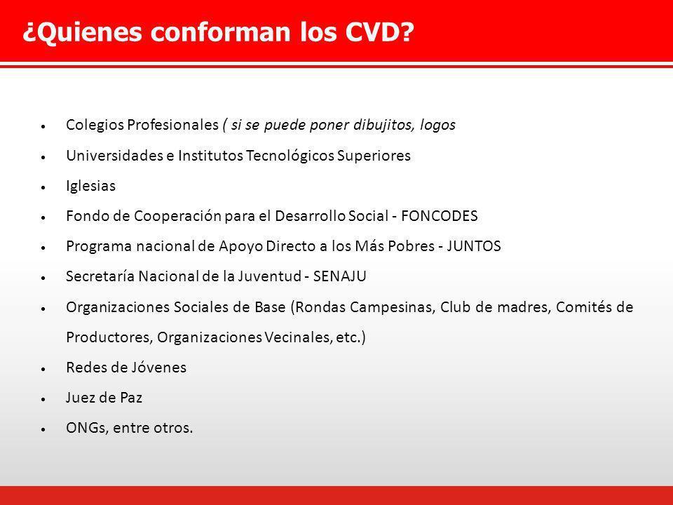 ¿Quienes conforman los CVD