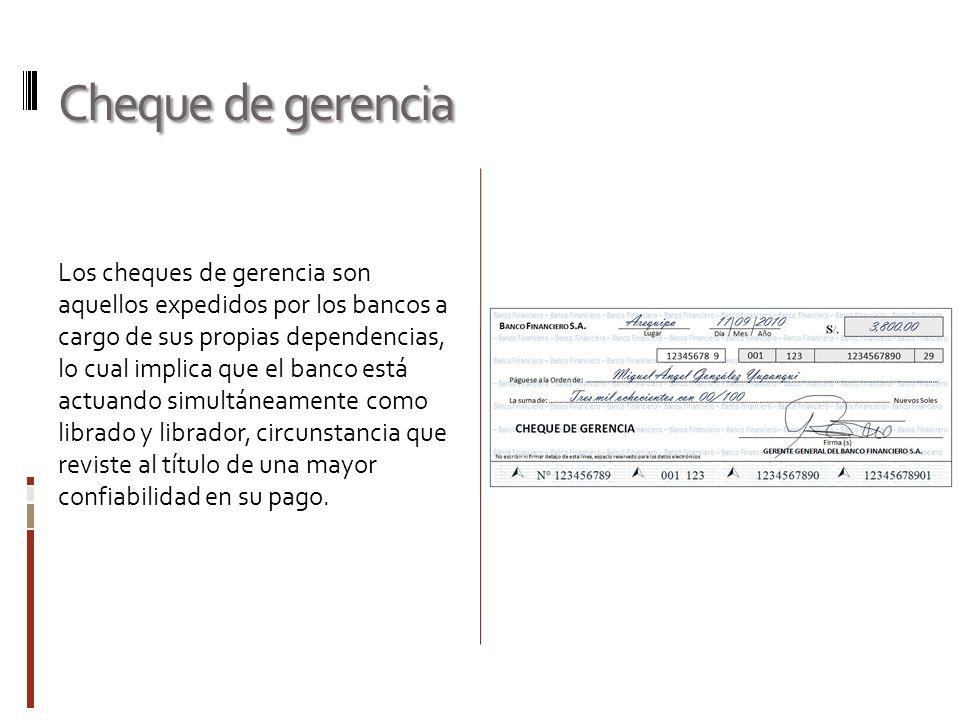 Cheque de gerencia