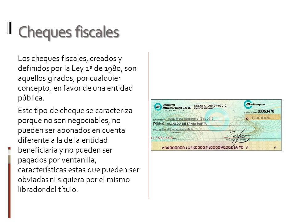 Cheques fiscales