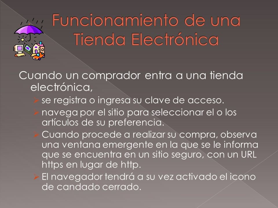 Funcionamiento de una Tienda Electrónica