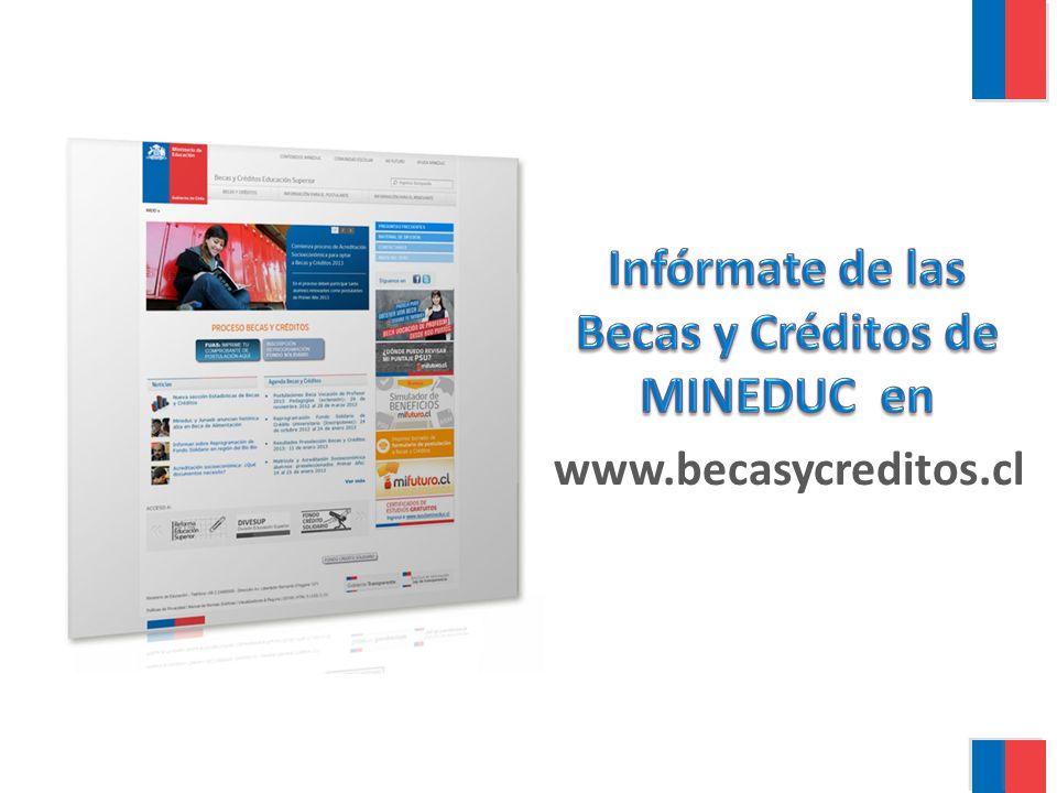 Infórmate de las Becas y Créditos de MINEDUC en