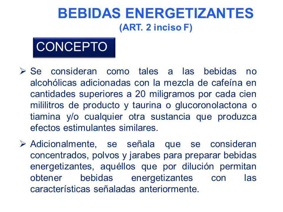 BEBIDAS ENERGETIZANTES