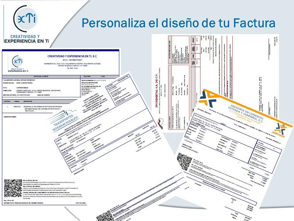 Personaliza el diseño de tu Factura