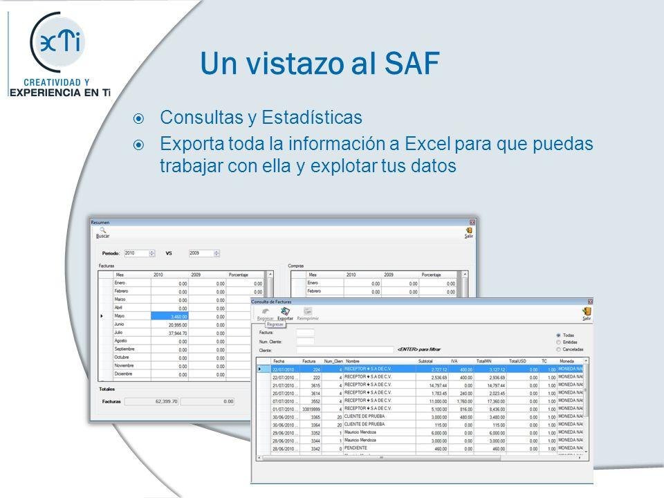 Un vistazo al SAF Consultas y Estadísticas