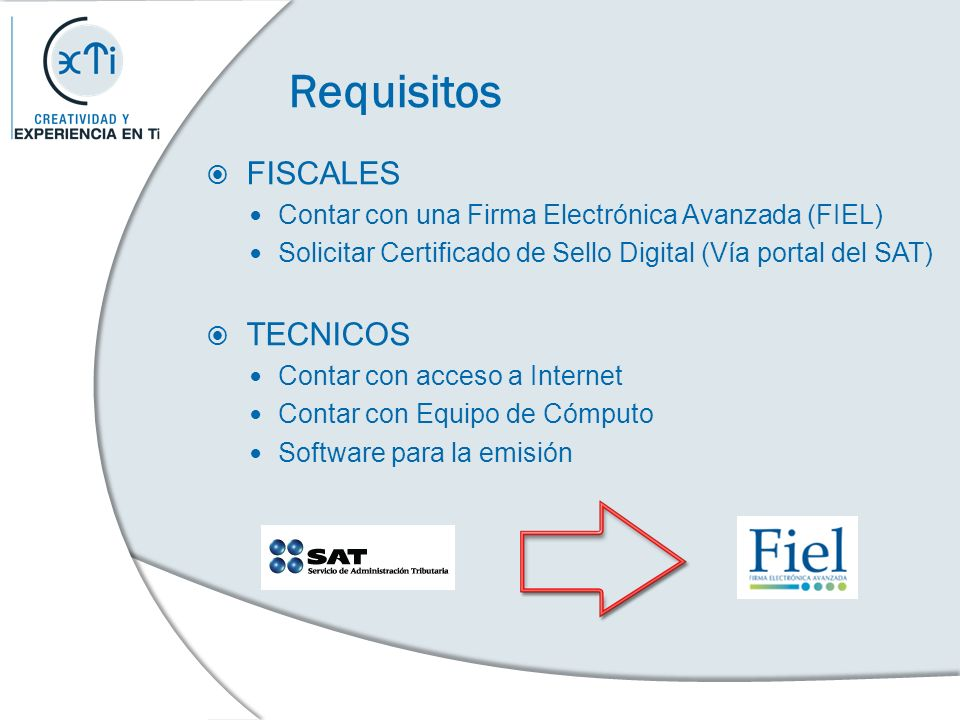 Requisitos FISCALES TECNICOS