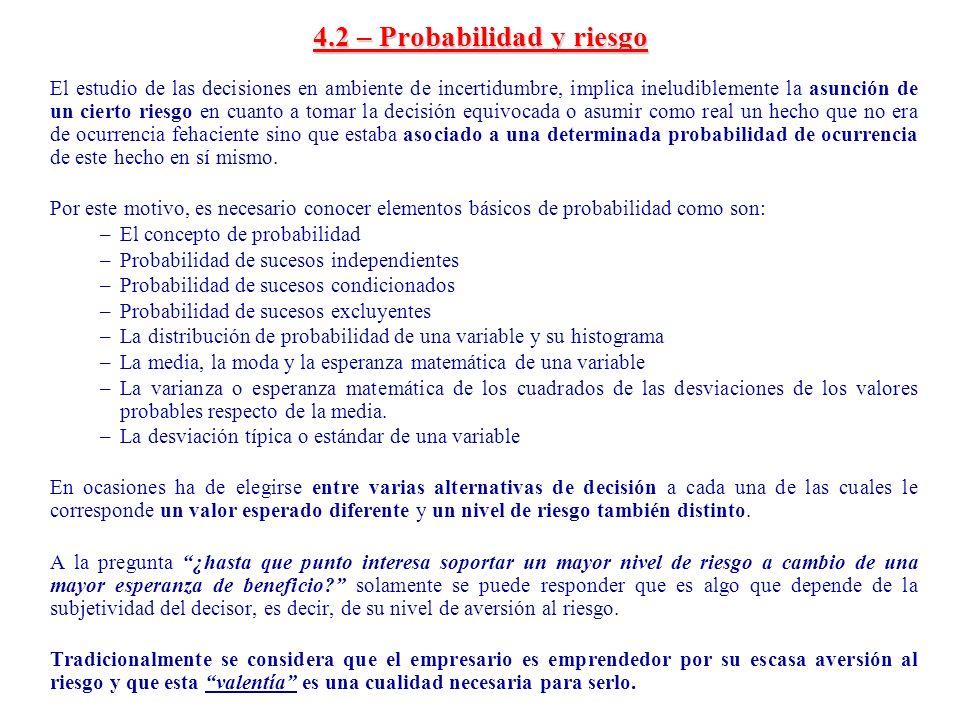 4.2 – Probabilidad y riesgo