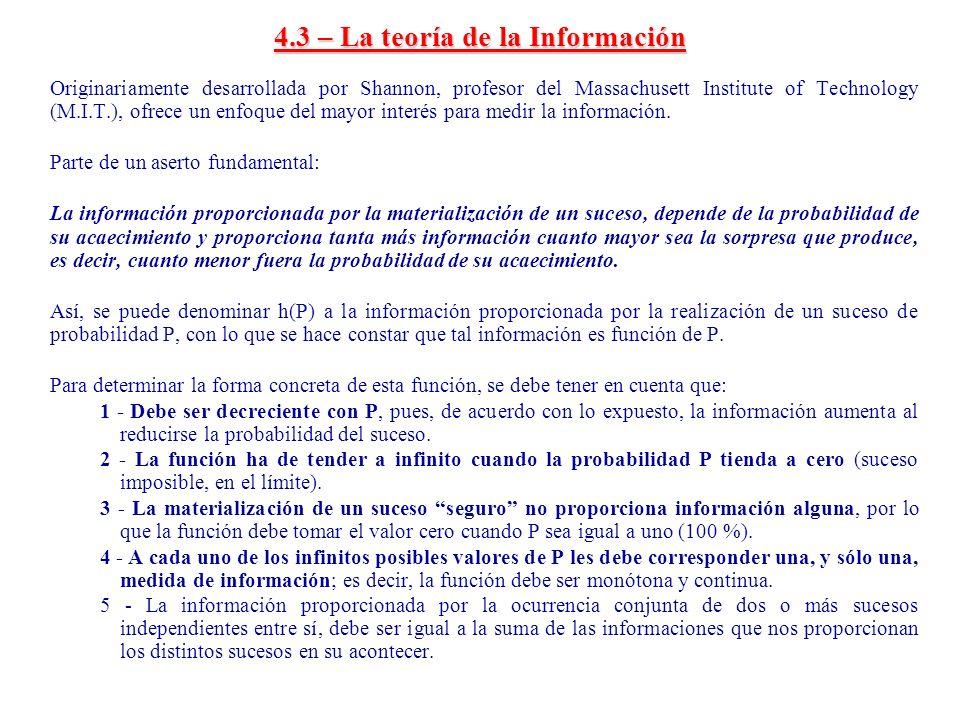4.3 – La teoría de la Información