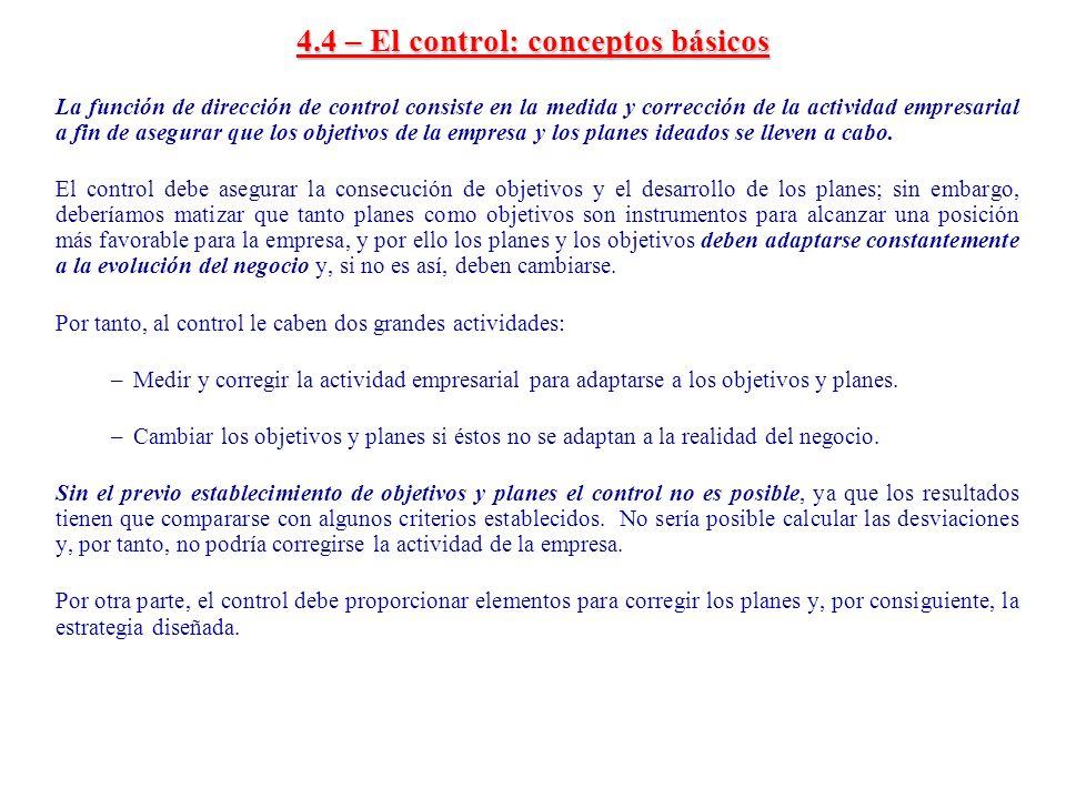 4.4 – El control: conceptos básicos