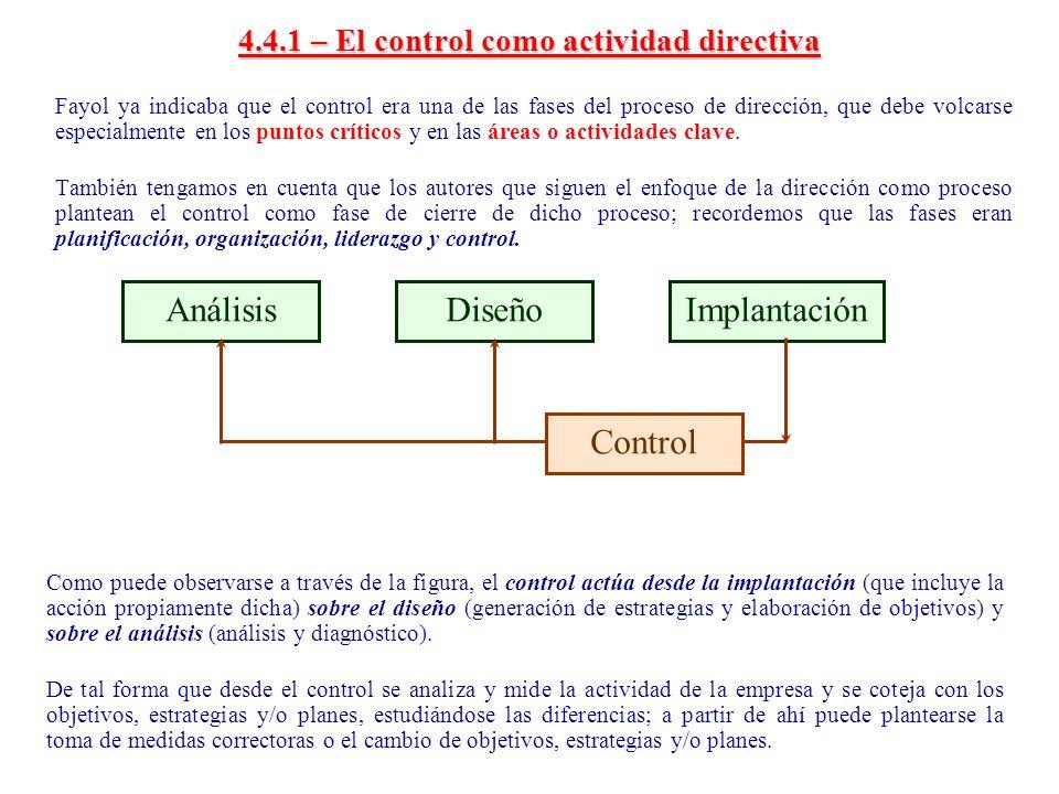 4.4.1 – El control como actividad directiva