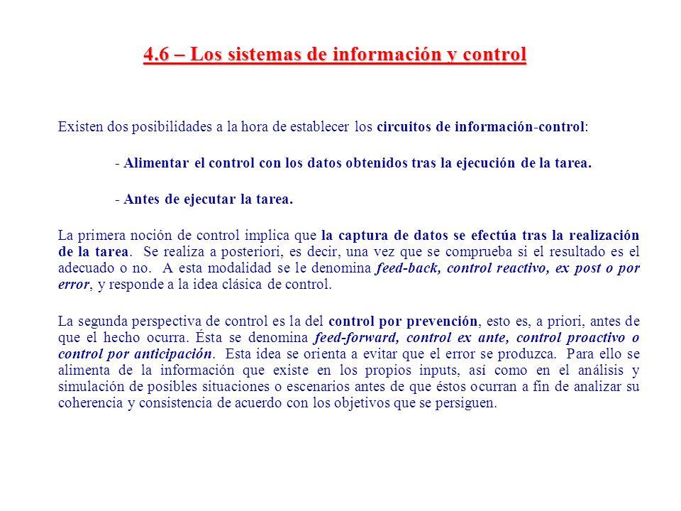 4.6 – Los sistemas de información y control