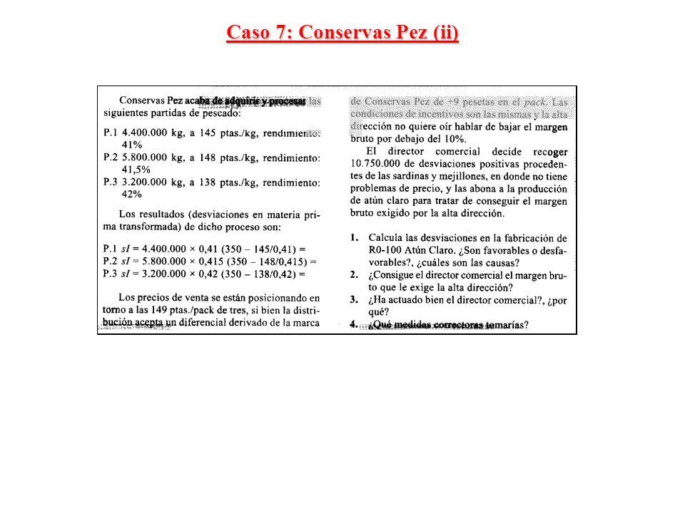 Caso 7: Conservas Pez (ii)