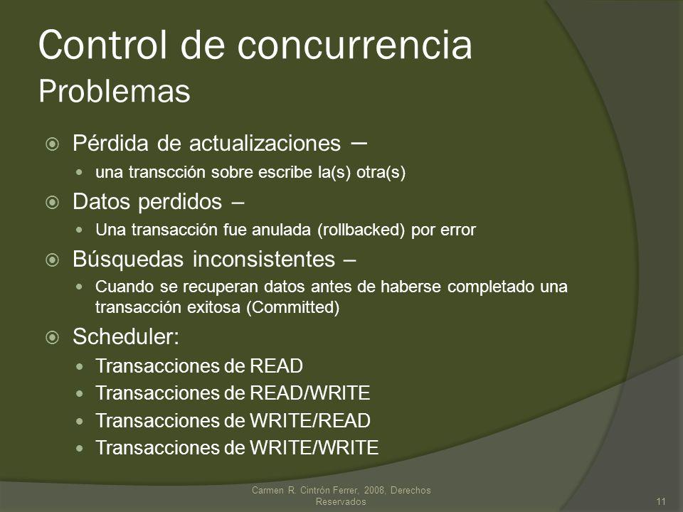 Control de concurrencia Problemas