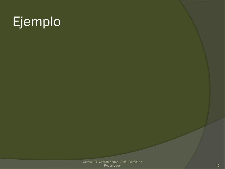 Carmen R. Cintrón Ferrer, 2008, Derechos Reservados