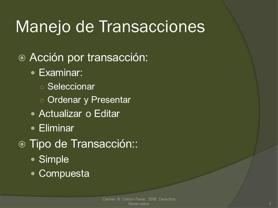 Manejo de Transacciones