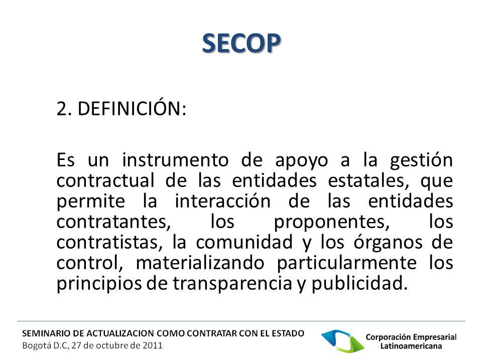 SECOP 2. DEFINICIÓN: