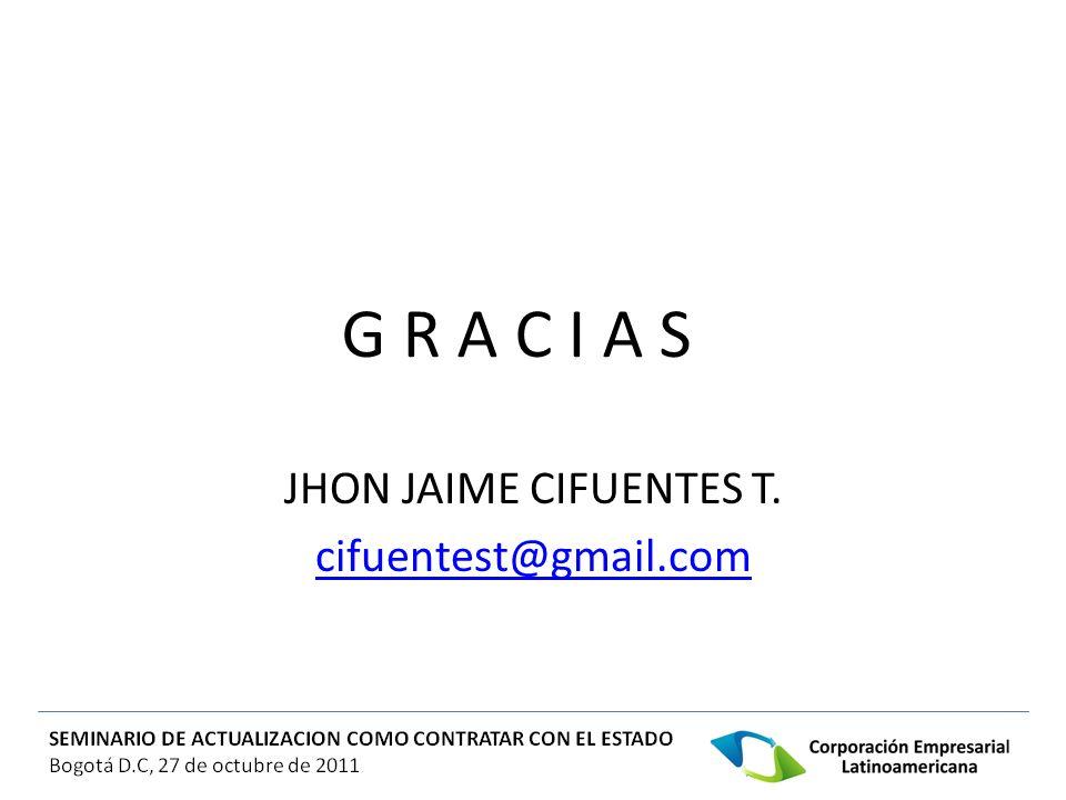 JHON JAIME CIFUENTES T. cifuentest@gmail.com