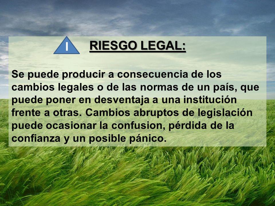 RIESGO LEGAL: