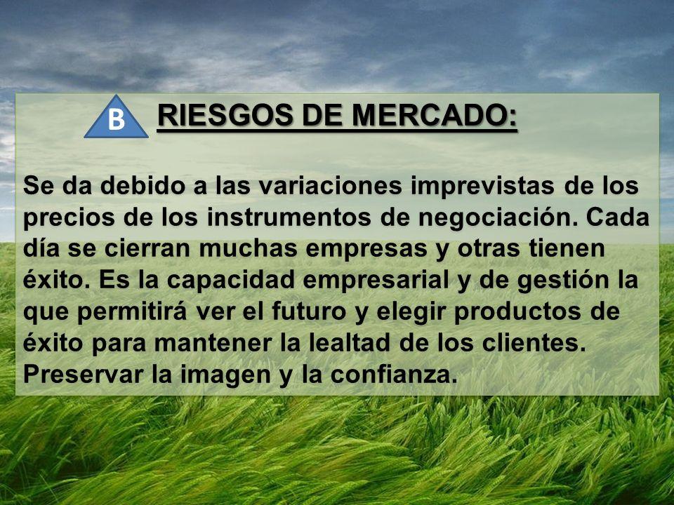 RIESGOS DE MERCADO: