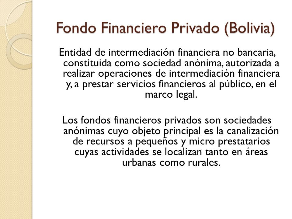 Fondo Financiero Privado (Bolivia)