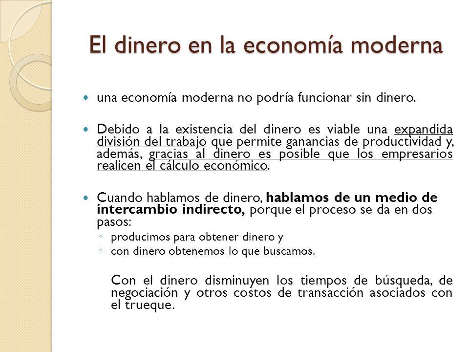 El dinero en la economía moderna