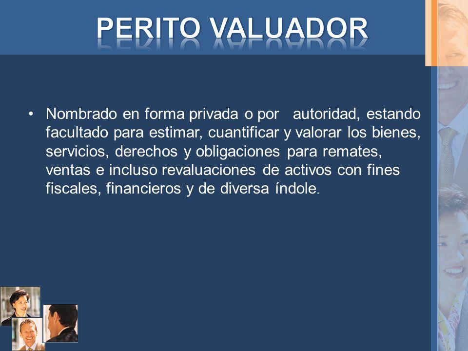 PERITO VALUADOR